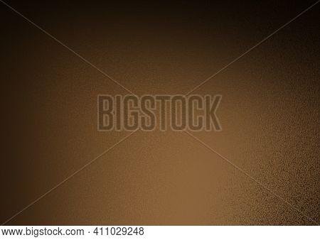 Frosty Background. Frosted Colored Glass. Glass Corrugated Texture. Frosty Orange Background With Bl