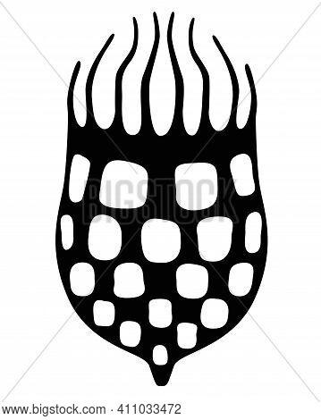 Infusoria Tintinnid - Vector Silhouette Illustration, Tintinnid - Ciliate Building A House, Unicellu