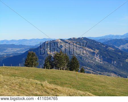View From Mount Rigi, Switzerland, Towards The Famous Former Landslide Of Goldau