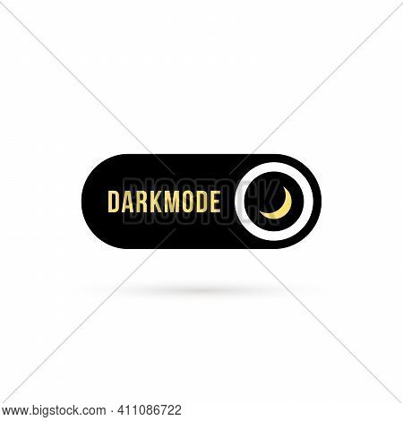 Simple Black Darkmode Switch Icon. Flat Minimal Style Trend Modern Logotype Graphic Design Isolated