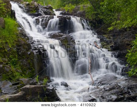 Waterfall In Spring