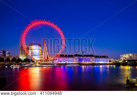 June 30, 2018: London Eye, Or  Millennium Wheel, Located On The South Bank Of The River Thames In Lo