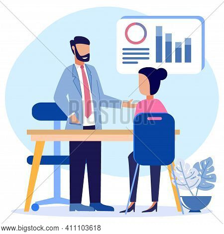 Flat Isometric Vector Illustration Isolated On White Background. Financial Consulting Concept. Ask F