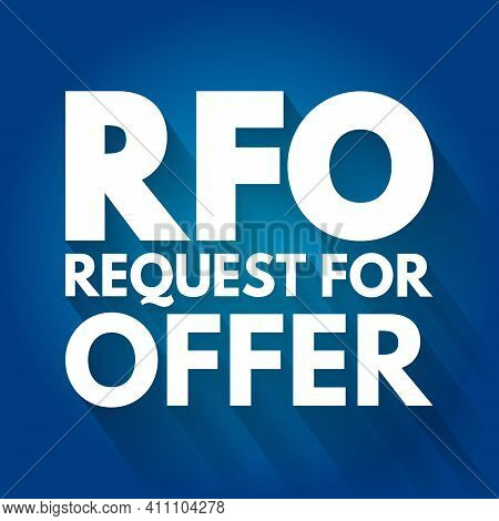Rfo - Request For Offer Acronym, Business Concept Background