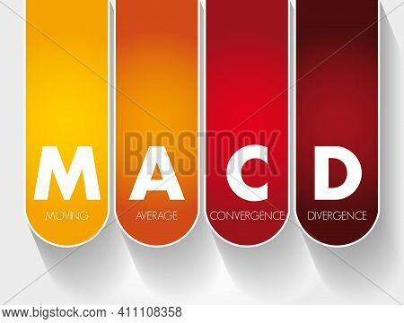 Macd - Moving Average Convergence Divergence Acronym, Business Concept Background