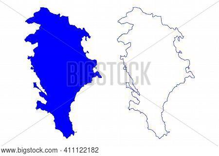 Free Municipal Consortium Of Syracuse (italy, Italian Republic, Sicily Region) Map Vector Illustrati