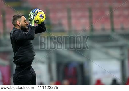 Milano, Italy. 03th March 2021 . Gianluigi Donnarumma Of Ac Milan  During The Serie A Match Between