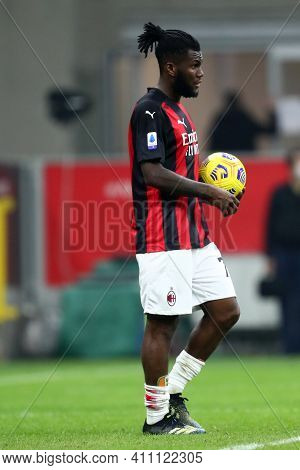 Milano, Italy. 03th March 2021 . Frank Kessie Of Ac Milan  During The Serie A Match Between Ac Milan