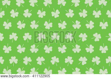 Shamrock St. Patrick's Day Shamrock Green Holiday Illustration Background, Card, Poster Or Banner In