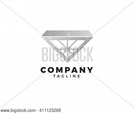 Diamond Jewellery Logo Design Vector Template, Diamond Jewellery Logo