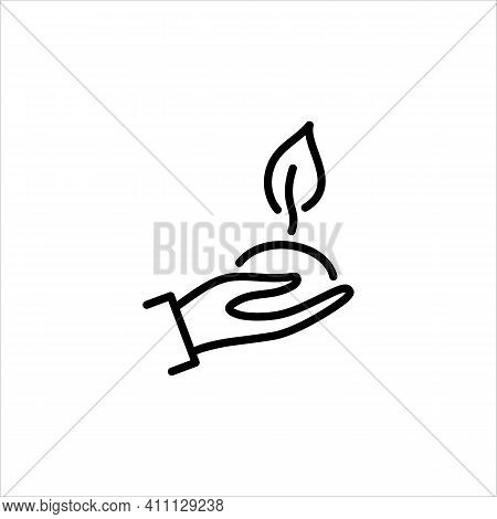 Energy, Ecology, Economy. A Renewable Energy Source. Clean Energy. Vector Sign In A Simple Style, Is