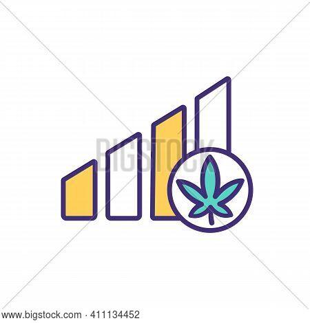 Craving Cannabis Rgb Color Icon. Marijuana Addiction. Cannabis Reinforcement Disorder. Health Effect