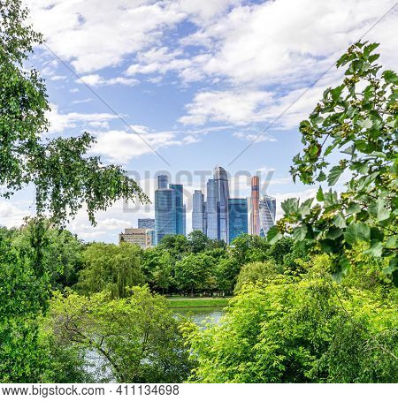 Moscow, Russia - June 23, 2017: Complex Of Buildings Moscow International Business Center