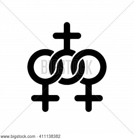 Women Community Black Glyph Icon. Social Movements For The Equalization Of The Rights Of Women And M