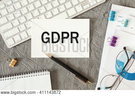 Word Gdpr General Data Protection Regulation - Concept Legal Eu Protect Information