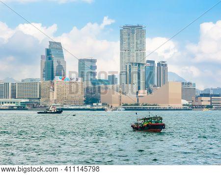 Hong Kong, Hong Kong - November 09, 2012: View On The Hong Kong Island And Victoria Harbor, Hong Kon