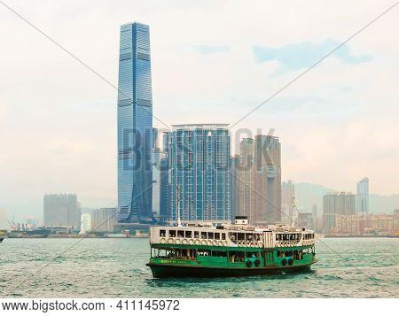Hong Kong, Hong Kong - November 09, 2012: Motor Boat In The Victoria Harbor, Hong Kong