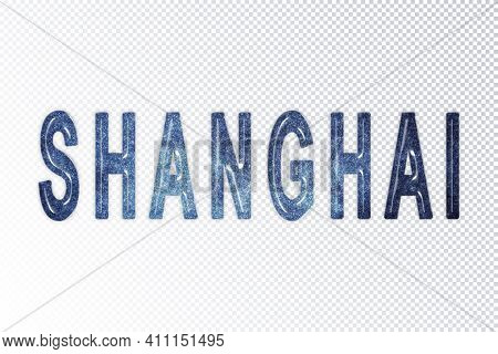 Shanghai Lettering, Shanghai Milky Way Letters, Transparent Background, Clipping Path
