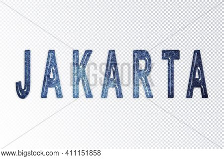Jakarta Lettering, Jakarta Milky Way Letters, Transparent Background, Clipping Path
