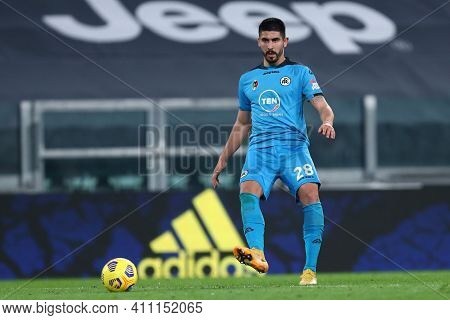 Torino, 02th March 2021. Martin Erlic Of Spezia Calcio  During The Serie A Match Between Juventus Fc