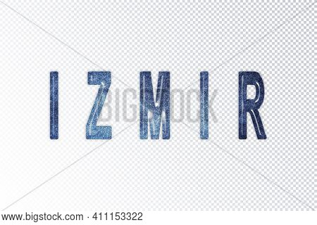 Izmir Lettering, Izmir Milky Way Letters, Transparent Background, Clipping Path