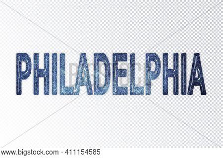 Philadelphia Lettering, Philadelphia Milky Way Letters, Transparent Background, Clipping Path