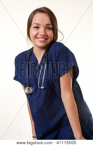Happy Healthcare Worker Woman