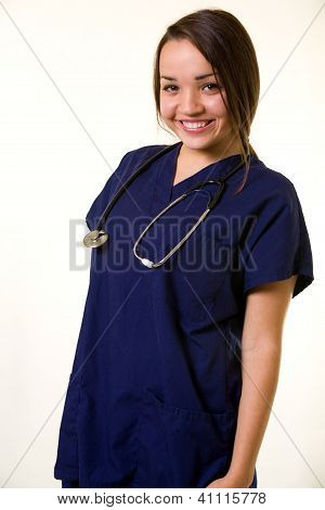 Smiling healthcare worker