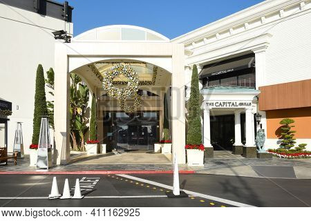 COSTA MESA, CA - DEC 1, 2017: Capital Grille South Coast Plaza. The upscale steakhouse chain offers classic American fare and a clubby, refined setting.