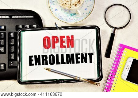 Open Enrollment. The Text Header In The Planning Notebook. Fixing The Facts. An Appointment With A S