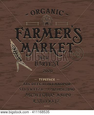 Font Organic Market. Hand Crafted Typeface Design