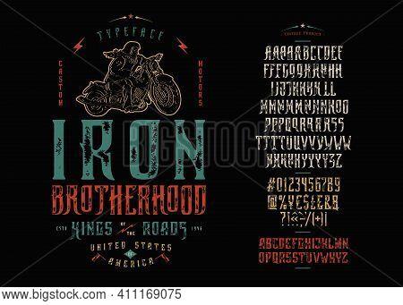 Font Iron Brotherhood Craft Retro Vintage Typeface