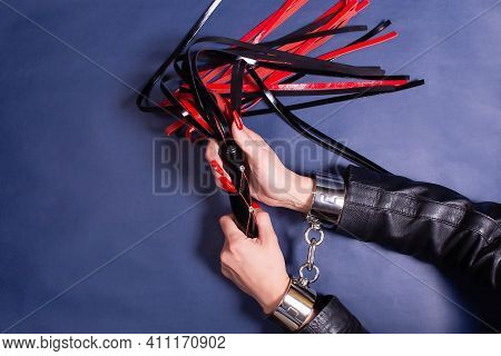 The Hands In Handcuffs With Whip, Bdsm Theme