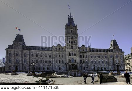 Quebec City, Quebec/canada - March 5: The Provincial Parliament Building On [march 5, 2017] In [queb