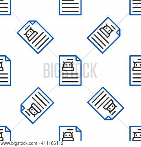 Line Technical Specification Icon Isolated Seamless Pattern On White Background. Technical Support C
