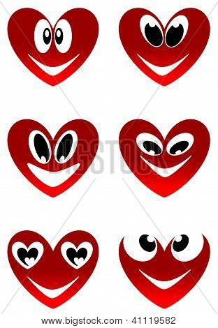 Red love smiles