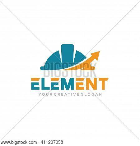 Element Logo Vector, Construct Logo Vector Template. Helmet Construction And Target Design Concept F