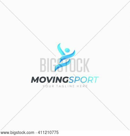 Moving Sport Logo For Active People Health