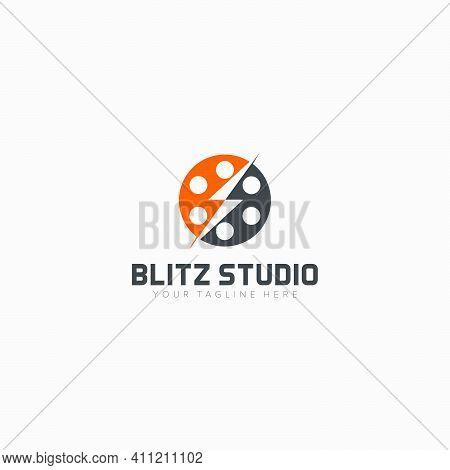 Blitz Studio And Electrical Logo Designs Flash