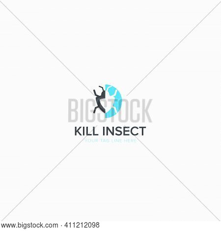 Kill The Insect Logo With Modern Pesticide