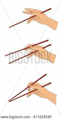 How To Use Chopsticks, Simple Illustration Guide