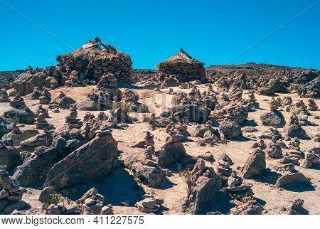Bizarre Landscape At Abra Patapampa Pass, Near The Mirador De Los Volcanes Patapampa Also Called Mir
