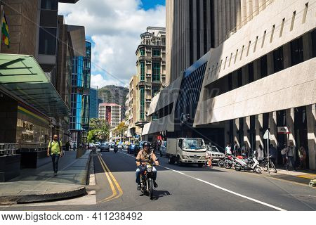 Mauritius - December 12, 2019. The City Center In The Capital Of Mauritius Port Louis
