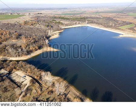 Aerial View Of The Forty Springs Reservoir Near Town Of Asenovgrad, Plovdiv Region, Bulgaria