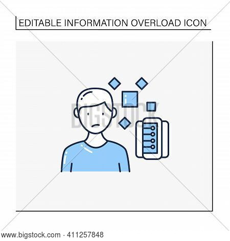 Unrelated Information Line Icon. Pieces Of Unrelated Info. Contamination Information Space Supply Wi