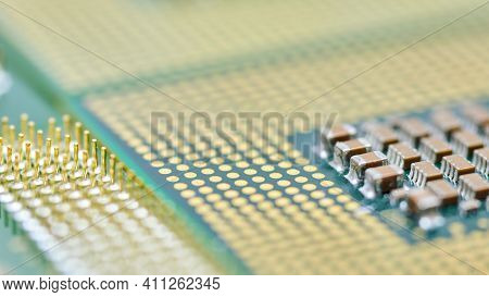 Cpu, Central Processor Unit, Isolated Background. Main Electronic Circuitry For Computer. Macro, Sha