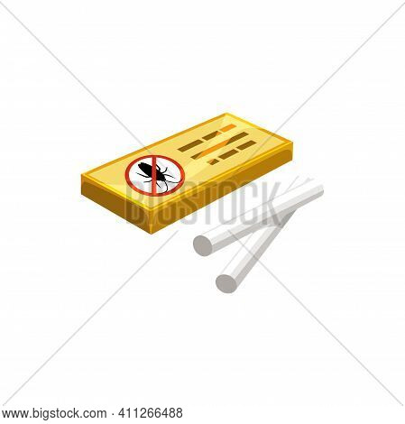 Cockroach Chalk, Pest Control And Domestic Disinfection, Vector Isolated Icon. Cockroach And Roach I