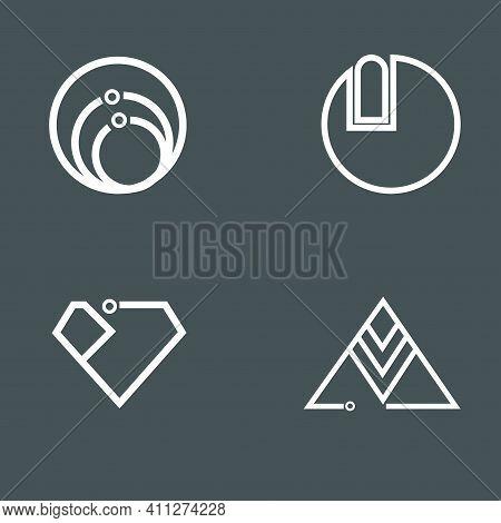 A Minimalist Symbolic Logo Design Template For Minimal Brand Identity Brands.