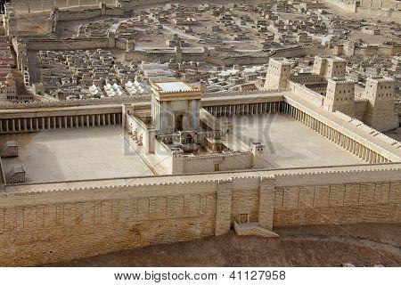 Second Temple.  Ancient Jerusalem.