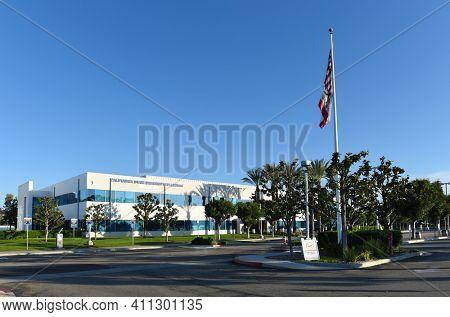 IRVINE, CALIFORNIA - 25 APRIL 2020: Tthe Irvine campus of the California State University Fullerton.